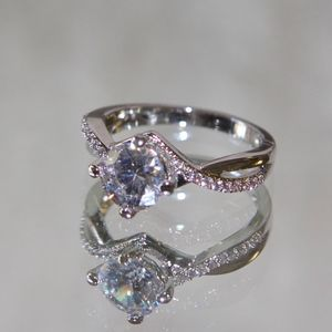 94d32bc13 Jenna Jameson Jewelry - 18kt Rhodium Gold Swarovski CZ Engagement Ring